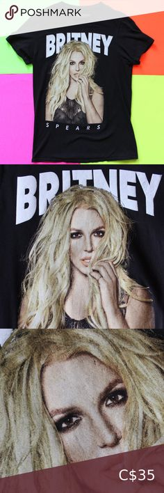 "2019 Britney Spears Graphic T-Shirt 2019 Britney Spears Graphic T-Shirt SIZE: Small Excellent condition! Light cracking on the bottom of the print.  CHEST 18"" BACK 27"" BRAND: Britney Spear Collection FABRIC: 100 Cotton Country of origin: Honduras Colour: Black TheBandTee.Shop Tops Tees - Short Sleeve Social Tees, Hipster Graphic Tees, Plus Fashion, Fashion Tips, Fashion Design, Fashion Trends, Polo Sport Ralph Lauren, Distressed Tee, Golf T Shirts"