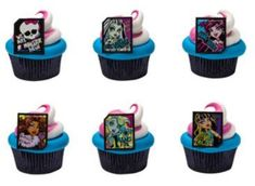 Monster High Cupcake Rings Party of 24 Cupcake Decoration Kit * Visit the image link more details.  This link participates in Amazon Service LLC Associates Program, a program designed to let participant earn advertising fees by advertising and linking to Amazon.com.