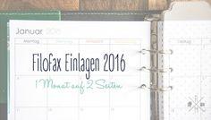Filofax Einlagen 2016 zum kostenlosen Download