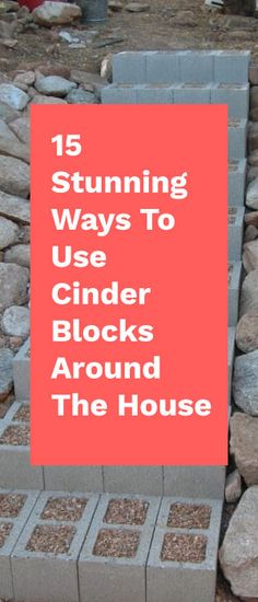 Though cinder blocks may seem unsightly, there are actually lots of useful ways you can repurpose them to bring beauty and function to your home. Here are 15 of our favorite DIY cinder block ideas.