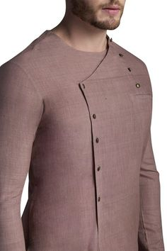 Buy Angarkha Solid Kurta With Pyjamas by Suta & Co Men at Aza Fashions is part of Mens kurta designs - African Wear Styles For Men, African Shirts For Men, African Dresses Men, African Attire For Men, African Clothing For Men, Latest African Fashion Dresses, Nigerian Men Fashion, Indian Men Fashion, Mens Fashion Wear