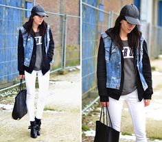 White jeans (by Lucy De B.) http://lookbook.nu/look/4606567-White-jeans