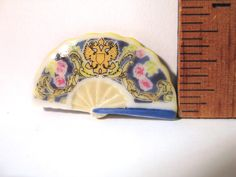 Ladies Hand Fans - Russian Imperial Court Fan - French Feve Feves Porcelain Figurines Doll House Miniatures