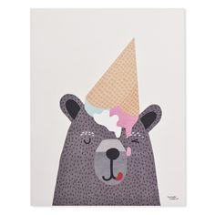 I <3 Ice Cream Print, by Michelle Carlslund Illustrations