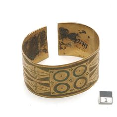 Africa | Copper bracelet from the Vachilenge people of Quilengues, Angola | 19th century  I own one of these