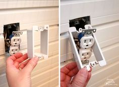 TWO STARS!! Shows the correct way to install electrical receptical extenders after applying a wall treatment like beadboard or flow wall panels.