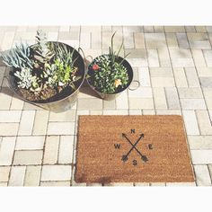 Always find your way back  home with our ' This Way Home' welcome mat. Available now in our Etsy shop!