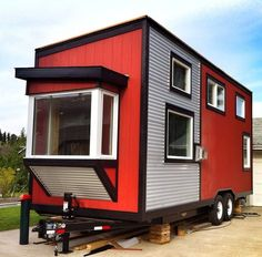 Modern Tiny House On Wheels a 180 square feet lofted tiny house on wheels in omaha, nebraska