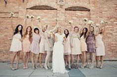 Blush, cream and lavender bridesmaid dresses - Not a bad color pallette Jodi for our dresses maybe?