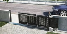 Image result for telescopic sliding iron driveway gates