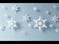 Paper snowflake tutorial - learn how to make snowflakes in 5 minutes - YouTube
