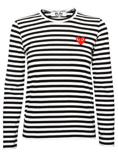 Comme des Garcons play black stripe tee. May 2015