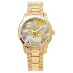 Frangipani flower monogram wrist watch for those fabulous bridesmaids