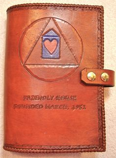 Alcoholics Anonymous Leather Big Book Cover by BomberoLeatherworks, $75.00
