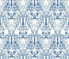 "Victorian damask wallpaper ""the lady's bedroom"" peacoquettedesigns at spoonflower.com"
