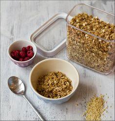 Müsli der Woche: heutiges Knuspermüsli: Hafer-Mandel-Crunch - knuspriges Granola