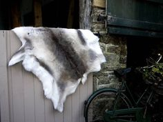 reindeer hide rug by strawberry hills | notonthehighstreet.com