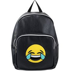 Olivia Miller LOL Tears Emoji Backpack ($45) ❤ liked on Polyvore featuring bags, backpacks, olivia miller, rucksack bags, day pack backpack, backpack bags and knapsack bag