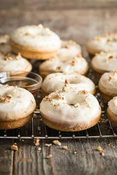 Tasty maple and pecan flavored baked donuts!!
