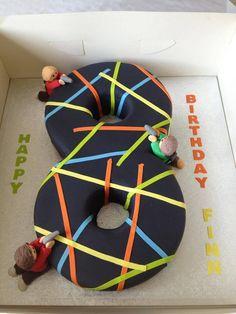 Laser Quest Number Cake