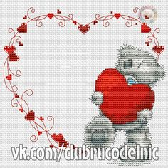 VK is the largest European social network with more than 100 million active users. Tatty Teddy, Cross Stitch Owl, Cross Stitching, Ribbon Embroidery, Cross Stitch Embroidery, Modern Cross Stitch Patterns, Crochet Diagram, Card Patterns, Stitch Design