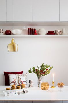 Iittala Christmas 2015 is illustrated with Klaus Haapaniemi's Christmas pattern. It is rich and mysterious, typical for this talented artist's visual world. Last Christmas, Nordic Christmas, Xmas, Marimekko, Table Settings, Sweet Home, Place Card Holders, Ceiling Lights, Candles