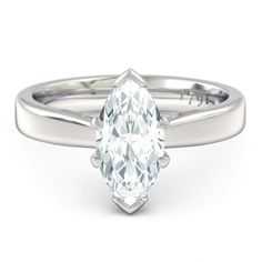 Duchess Marquise Engagement Ring in 18kt White Gold - Top View