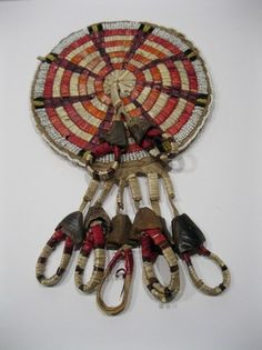 C1870 Sinew Sewn Northern Plains Indian Blackfoot Beaded Quilled Rosette Bag