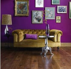 """Pantone Fall Pick """"Phlox"""" painted on the walls ,this color is absolutely Amazing love it ! Aynai"""