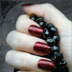 Metallic red n black