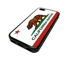 For Apple Iphone 5 or 5s Cute Phone Cases for Girls California Native Local Flag Cali Design Cover Skin Black Rubber Silicone Teen Gift Vintage Hipster Fashion Design Art Print Cell Phone Accessories MonoThings http://www.amazon.com/dp/B00KYFE1KQ/ref=cm_sw_r_pi_dp_cG6Ntb0SBVFZ3XSD