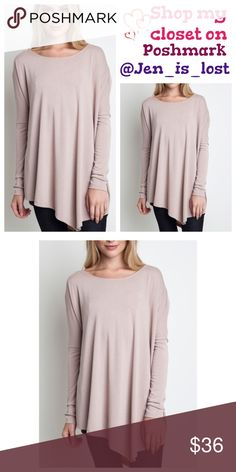 Anniversary Sale  Beige Asymmetrical Tunic Beige Asymmetrical Tunic Asymmetrical long top. 60% cotton 40% polyester blend.  Perfect for any casual style just throw a bold statement necklace on and go! Fit is for women's sizes  Medium 6-8 fit is true to size on this asymmetrical top.No Trades ✅Reasonable Offers Are Considered✅ Use the blue offer button. Tops Tunics
