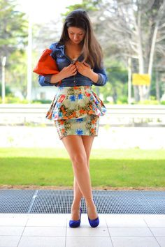 Shop this look on Kaleidoscope (skirt, top, pumps, clutch)  http://kalei.do/WDB91CUBZkizJMOx
