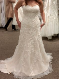 David's Bridal Sweetheart A-line Tulle And Lace Wedding Dress Wedding Dress. David's Bridal Sweetheart A-line Tulle And Lace Wedding Dress Wedding Dress on Tradesy Weddings (formerly Recycled Bride), the world's largest wedding marketplace. Price $448...Could You Get it For Less? Click Now to Find Out!