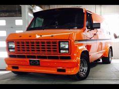 Custom 70's Ford van
