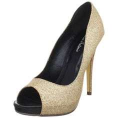 3a80adeaaf8c64 Gold Michael Antonio designer shoes - golden glitter shoes