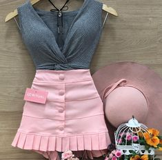 Girly Outfits, Kids Outfits, Summer Outfits, Cute Outfits, Fashion 2020, Look Fashion, Fashion Outfits, Womens Fashion, Outfit Combinations