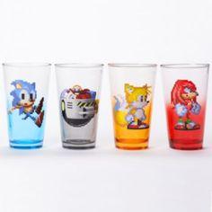 Sonic the Hedgehog 4-Piece Pint Glass Set