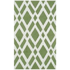graphic green rug - you could totally get this same effect with tape and paint.