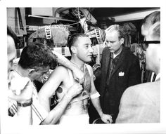 Astronaut Virgil I. Grissom Preparing for Testing Astronauts In Space, Nasa Astronauts, Gus Grissom, Project Mercury, Apollo 1, Nasa History, Space Cowboys, Risky Business, Out Of This World