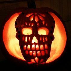 Image result for dia de los muertos pumpkin halloween dia de los muertos pumpkin see more sugar skull pumpkin pronofoot35fo Images