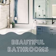 There's nothing we love more that a quite retreat fit for a day of pampering. Here we feature our favorite bathroom designs featuring Top Knobs decorative hardware. Knobs And Handles, Bathroom Designs, Beautiful Bathrooms, Cabinet Hardware, Kitchen And Bath, Fit, Home Decor, Decoration Home, Shape