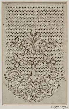 V&A museum object Hairpin Lace Crochet, Crochet Motif, Crochet Edgings, Crochet Shawl, Bobbin Lace Patterns, Bead Loom Patterns, Hand Embroidery, Embroidery Designs, Bobbin Lacemaking