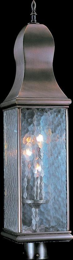 0-027504>Marquis 3-Light Outdoor Post Light Mahogany Bronze