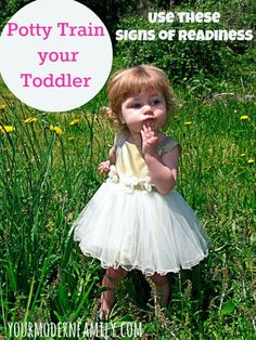 Potty Train Toddler - signs that your child is ready:
