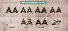 brandon printed font - Google Search