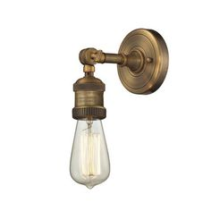 Battery operated wall lights interior wall sconce lighting battery bedroom lights home garden vintage lighting vintage brushed brass swivel neck wall sconce aloadofball Image collections