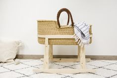 Natural wooden rocking stand for Design Dua moses baskets / baby bassinets. Moses Basket, Baby Bassinet, Baskets, Bed, Photography, Furniture, Design, Home Decor, Baby Cots