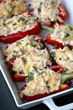 low-carb-creamy-chicken-stuffed-peppers