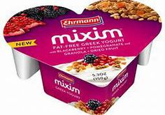 mixim yogurt-- Not a great looking label but a heart shaped package design
